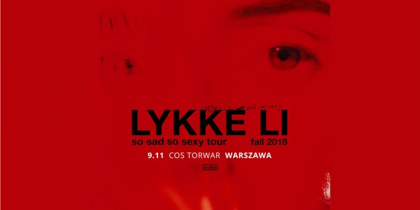 Plakat koncertu Lykke Li