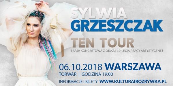 Plakat koncertu Sylwii Grzeszczak - TEN Tour