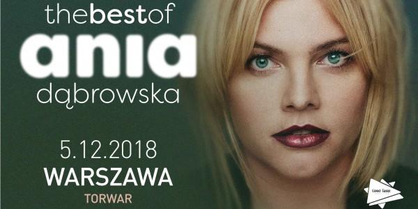 Plakat koncertu Ania Dąbrowska - The Best Of