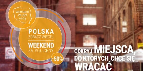 Plakat akcji Weekend za pół ceny z COS