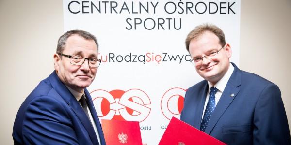 Minister Jan Józef Kasprzyk i Dyrektor COS Cezary Andrzej Jurkiewicz