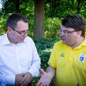 Miniser Młodzieży i Sportu Ukrainy - Ihor Żdanow z Dyrektorem Cezarym Andrzejem Jurkiewiczem