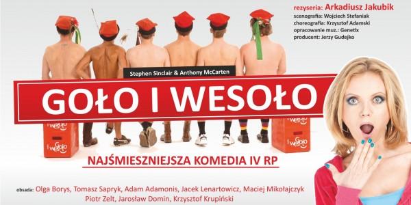 Plakat komedii pt. Goło i wesoło