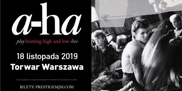 Plakat koncertu A-ha