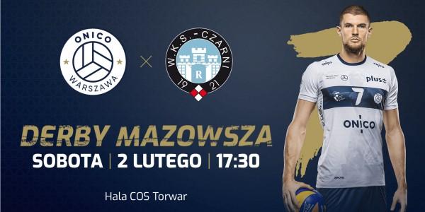 Plakat meczu ONICO Warszawa vs Cerrad Czarni Radom