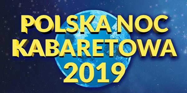 Plakat wydarzenia Polska Noc Kabaretowa 2019